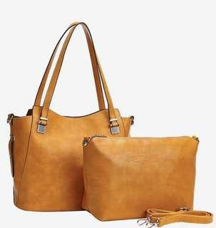 Brand new mustard/yellow 2-in-1 tote Fabulous Age