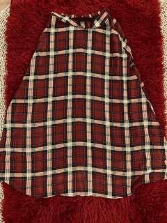Vintage Checkered Long Skirt