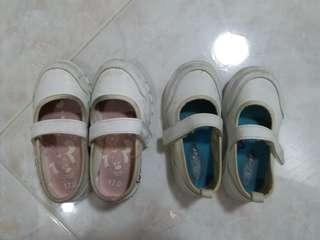 Girls White School Shoes
