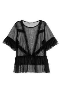 H&M black mesh top