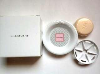 JILL STUART RELAX 純白花漾香氛皂,皂盤,皂碟 3件