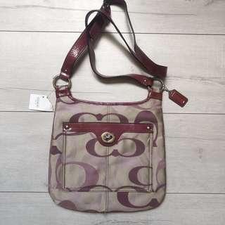Coach  Penelope Optic Signature Hippie Cross-body Bag #17479