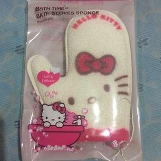 B1G1 Hello Kitty Bath Gloves Sponge