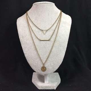3 in 1 necklace gold