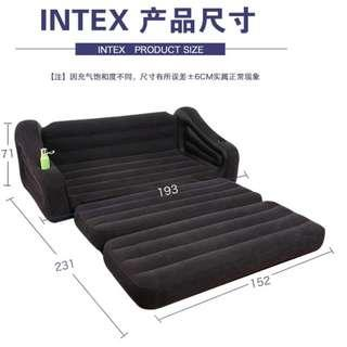 Intex Inflatable AIR BED Mattress Pull Out Sofa Bed