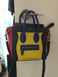 Faux Céline Tricolour Crossbody Bag