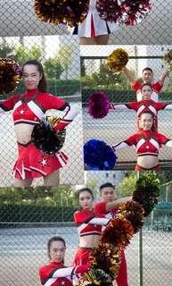 Cheerleaders Cheerleading 啦啦隊服裝 啦啦球 訂購 Customised/In Stock Costumes Pompoms