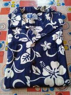 Baju Hawaii Biru