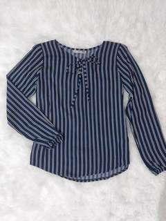 Navy Stripe Blouse