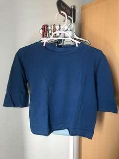 Zara Trafaluc Blue Top