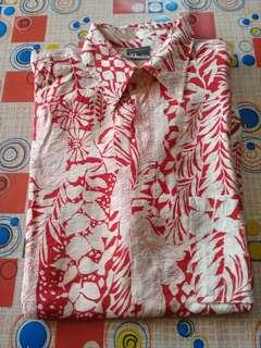 Baju Hawaii Merah Putih