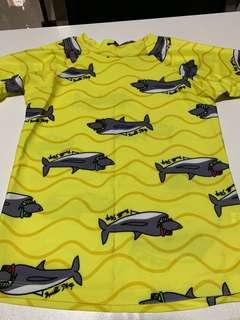 Boy and girl swimming top