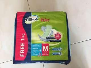 🚚 Tena Adult Diapers 12pieces+1 size M