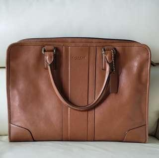 Coach briefcase in leather