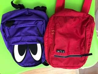 品牌後背包2個