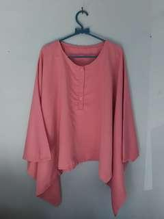 Blouse batwing dusty pink