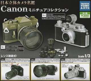 Canon相機名鑑模型(100% NEW 全新)