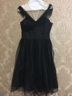 Black Dress new polka dot size medium