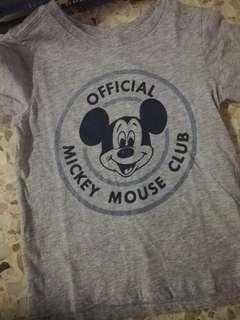Mickey gray shirt