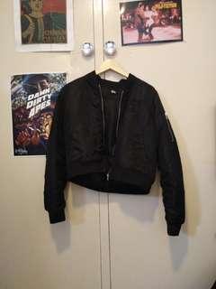 Stussy cropped bomber jacket