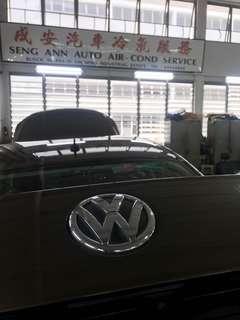Car air con service volk wagon Jetta replace Ac compresses n condenser