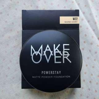 [SALE] 12Gr Make Over Powerstay Matte Powder Foundation shade Warm Ivory - W22