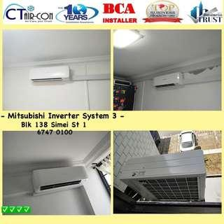 🚚 Mitsubishi Inverter @ New Set Installation