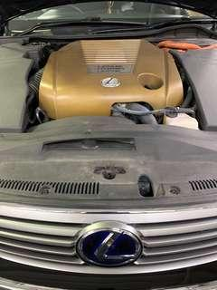 Car air cond service Lexus GS 450 replace evaporator cooling coil