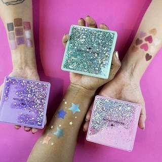 🚚 Eyeshadow Palette with Glitter Liquid Case iheartrevolution by UK Drugstore Revolution Beauty