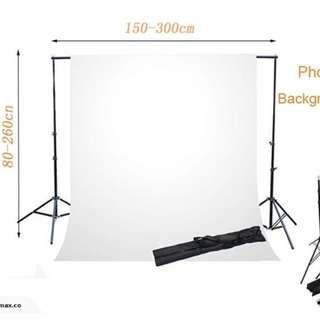 Heavy Duty 2.6x3m 2.88x3m Studio Backdrop Photo Background Support Stand Kit Wedding party backgound