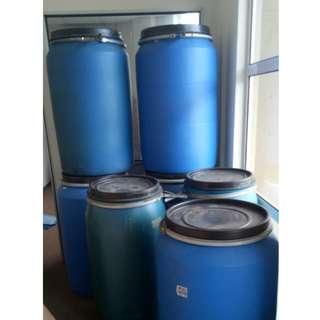 Open Top Blue Plastic Drum (200L)