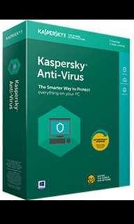Kaspersky Antivirus 2019 Genuine Key 💯