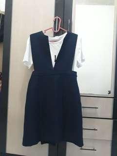 Overall dress navy