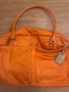 REPRICED!! Authentic Orange Tumi Laptop Bag