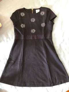 🚚 GAP Kids navy dress with diamond detail