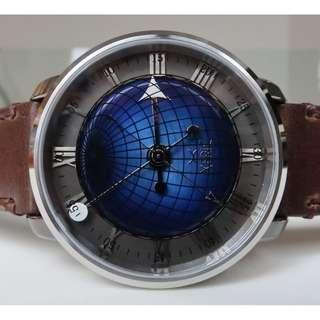 Xeric Atlasphere Automatic (blue face with brown leather strap)