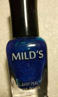 🚚 MILD'S 曼思水性可剝指甲油 藍色