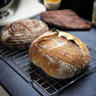 Freshly bake sourdough bread