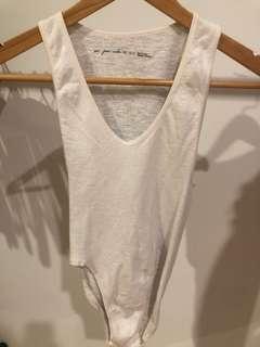 White single bodysuit