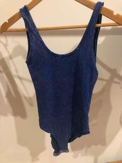 Blue singlet bodysuit