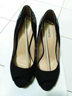 Amante Black Heels
