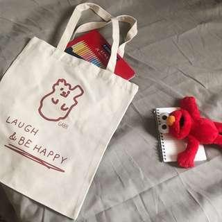 🚚 紅色小熊帆布袋🐻