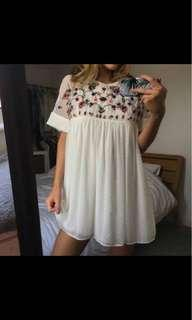 Zara embroided playsuit