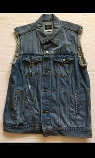 Urban Outfitters distressed denim vest - Size Large