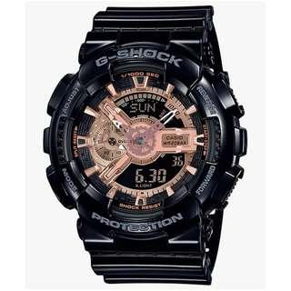 Casio GA-110MMC-1A G-Shock Black and Rose Gold ..