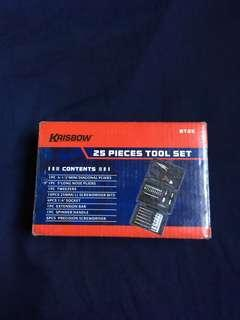 Krisbow 25 Pieces Tool Set