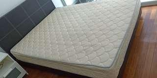 Bed frame and mattress (Queens Size)