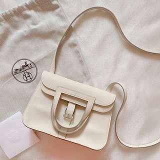 【99.99% New! Excellent Condition!】Hermes Halzan Mini Bag (craie)