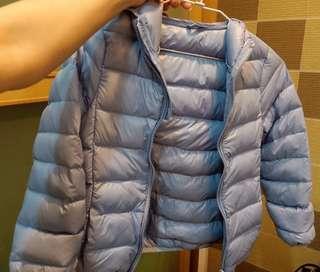 🚚 全新 兒童 輕羽絨 外套 水藍色 實品顏色是最後一張圖