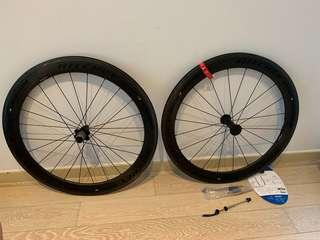 Richey WCS Apex II 60mm Carbon Clincher Wheelset - SRAM/Shimano 10/11 speed. New front, used rear (~500km)